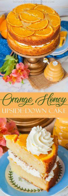 Upside-Down Honey Orange Cake +Cookbook Giveaway! - Tatyanas Everyday Food