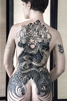 Incredible backpiece tattoo by Paix Le Tattooer...book with Paix on the Tattoodo App or find an artist near you!....#dragontattoo #backpiece #backtattoo #backpiecetattoo #tattooinspo #tattooidea #tattooart