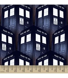 Doctor Who Tardis Cotton Fabric... I'm so buying this so I can make a Doctor Who purse!!!!!