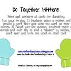 """*FREE* from www.facebook.com/wordnerdspeech teach      48 """"go together"""" cards (24 pairs) with cute mitten graphics    Two ways to play: 1) Students select a mitten and provide a word that goes with the word on their mitten; 2) Played just like memory, students select a mitten and then try to find a """"match"""" by finding a word that goes with the word on their card"""
