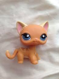 Littlest Pet Shop 525 Cat Blue Eyes Monopoly