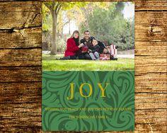 Photo Christmas Card / JOY Christmas Card / by BlissfulSoiree