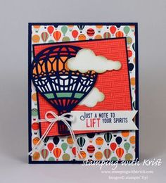 Stampin Up Up and Away card by Kristi @ www.stampingwithkristi.com