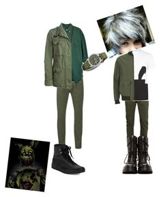 """Springtrap and Plushtrap(FNAF 3/4)"" by take-me-to-neverlan on Polyvore featuring Scotch & Soda, Converse, King Ice, FAY, David Yurman, Seiko, Topman, McQ by Alexander McQueen, Knutsford and Helmut Lang"