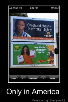 Only in America...do they call ordering at mcdonalds a shopping spree