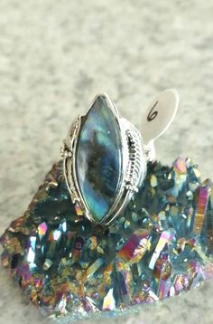 Beautiful Labradorite Ring, Size 6 by KarinsForgottenTreas on Etsy