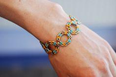 Caravan Beads Half Tila Bracelet pattern on our Caravan beads blog