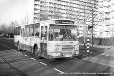 NZH Bus, Haarlem Schalkwijk '80 / '90. Mijn ouderlijk huis in the background.