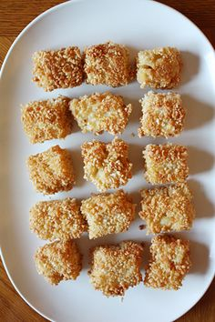 Fried Macaroni & Cheese-I would definitely use homemade, NOT the box!