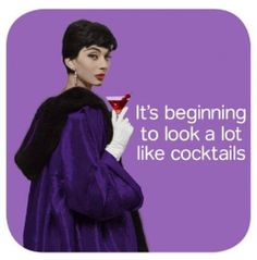 It's beginning to look a lot like cocktails - vintage retro funny quote