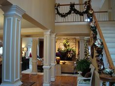 Christmas foyer and staircase 2010