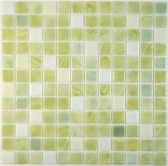 """Absolut Glass  Clearance, 1"""" x 1"""", Light Seaweed, Glossy, Green, Glass"""
