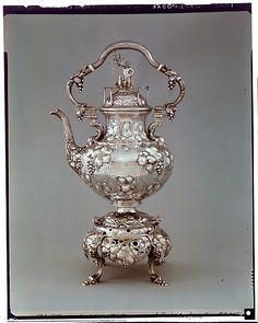 1850 silver tea kettle