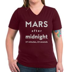 Modified Mars giftshop: Mars after Midnight Shirt: Life is light on Mars! Martian gravity is only of Earth gravity. Moving to Mars will make you lose a lot of weight. Earth Gravity, After Midnight, The Martian, Mars, I Shop, V Neck, T Shirt, Stuff To Buy, Shopping