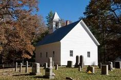 The Primitive Baptist Church and cemetery  in Cades Cove