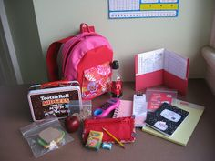 Absolutely adorable ~ instruction for the back-to-school items needed to fill the backpack