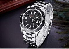 Pánské kovové hodinky ve stříbrné barvě s černým ciferníkem + POŠTOVNÉ  ZDARMA Na tento produkt se 169e0f5149