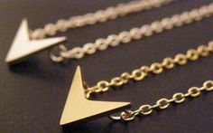This listing is for a #Arrow #Chevron #pendant necklace. $13.50
