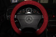 Red & Black Checkerboard Cover Wheel .Sterring by SouthernAplus