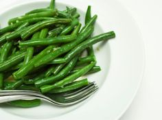 Steamed Green Beans Recipe - was looking for a recipe that used similar ingredients (garlic, soy sauce, brown sugar) as tonight's steak...this recipe fit the bill...really tasty! Any time Rob takes seconds of veggies I know it's good lol