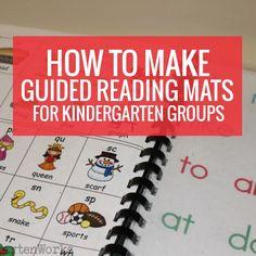 Guided reading mats for kindergarten