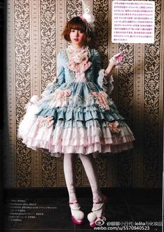 Antoinette Princess Dress Set by Angelic Pretty Harajuku Fashion, Kawaii Fashion, Cute Fashion, Asian Fashion, Rococo Fashion, Gothic Lolita Fashion, Filles Alternatives, Mode Mori, Doll Style