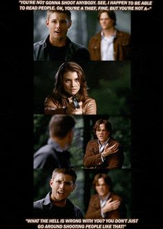 [GIFSET] Dean never quite got a handle on Bela :) 3x03 Bad Day At Bad Rock
