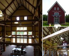 Jackson Public Library in Jackson, New Hampshire, converted from a barn built in 1858 for the town's first inn.