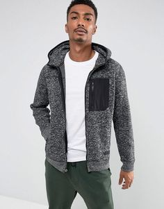 Abercrombie & Fitch Zipfront Hoodie Sports Fleece in Black Men Style and Fashion. Klick to see the Price