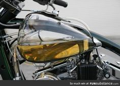 Fuel tank made out of glass