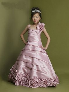 Asymmetric Ruched Floor Length Flower Lovely Pink Toddler Pageant Dress Patterns.jpg (822×1098)