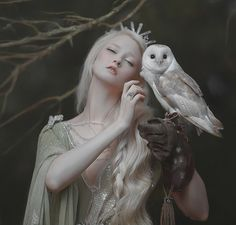A.M.Lorek Photography dimension model: Maria Amanda & lovely bird dress: Fairy Cave