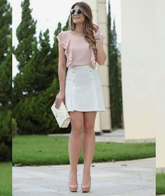 Best Trends from New York Fashion Week Spring 2017 Classy Outfits, Casual Outfits, Cute Outfits, Skirt Outfits, Girl Fashion, Fashion Outfits, Womens Fashion, Fashion Trends, Blouse Styles