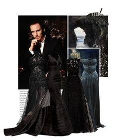 """""""Hades"""" by errantica ❤ liked on Polyvore featuring Oris, River Island, Zuhair Murad and Elie Saab"""