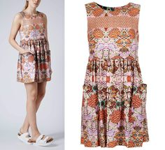 TOPSHOP Folklore Printed Shift Dress