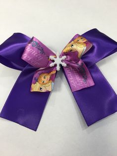 A personal favorite from my Etsy shop https://www.etsy.com/listing/224674715/purple-frozen-inspired-hair-bow