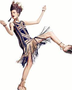 RETRO FLAPPER MOMENTS!!!!! Bette Franke by Marc de Groot for Vogue Netherlands April 2012