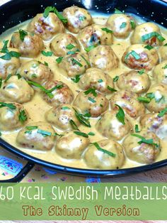 These gorgeous 60 kcal Swedish Meatballs are so rich and tasty, just like the one s in Ikea, but completely guilt free!