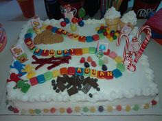 candyland birthday cake. I made this for my nephews 4th birthday party.
