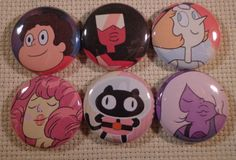 Hey, I found this really awesome Etsy listing at https://www.etsy.com/listing/174320780/steven-universe-button-set-6-choice-of