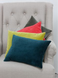 Velvet and Linen Cushion Cover - Rugs, Cushions & Throws - Decorative Home
