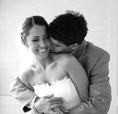 Perfect newlywed picture