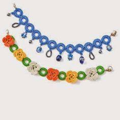 Des idées...& des mains !: Bracelets au crochet