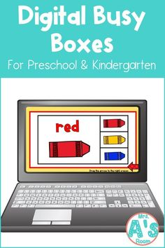 This fun digital busy box is perfect for online instruction and distance learning with your preschool, pre-k, and kindergarten kiddos! It works on multiple platforms and can be used in the classroom too! #mrsasroom Preschool Color Activities, Counting Activities, Classroom Activities, Preschool Ideas, Letter Sorting, Busy Boxes, Learning Colors, Preschool Kindergarten, School Resources