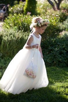 Montecito California Wedding San Ysidro Ranch Stephanie Hogue Photography La Fete Mindy Rice Floral and Event Design Ambient Event Design Romance Clower Girls Bridesmaid Flowers, Bridesmaid Dresses, Wedding Dresses, Robes Tutu, Wedding With Kids, Here Comes The Bride, Wedding Attire, Little Princess, Flower Girl Dresses