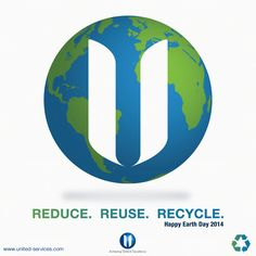 Happy Earth Day from United Services Group!  For more information on recycling, visit the U.S. Environmental Protection Agency's website at http://www2.epa.gov/recycle. #Earth #EarthDay #EarthDay2014 #MotherEarth #ReduceReuseRecycle #Recycle