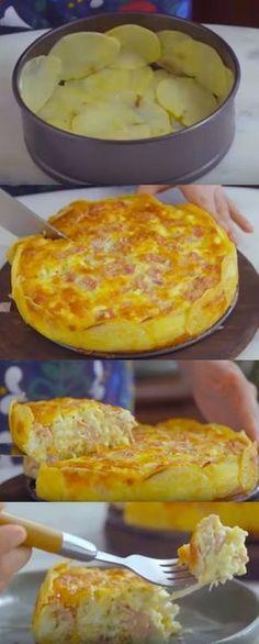 torta com base de batata #torta #tortacombasedebatata#comida #culinaria #gastromina #receita #receitas #receitafacil #chef #receitasfaceis #receitasrapidas