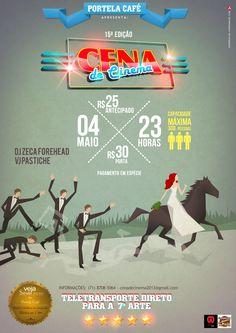 Cartaz para o evento Cena de Cinema - Portela Café