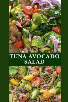 Healthy Tuna Salad, Avocado Tuna Salad, Avocado Salad Recipes, Tuna Recipes, Low Carb Recipes, Diet Recipes, Healthy Snacks, Healthy Eating, Cooking Recipes