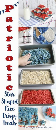 Rice Krispie Treats Love this fun twist on a old classic. The Patriotic Rice Krispie treats are so cute!Love this fun twist on a old classic. The Patriotic Rice Krispie treats are so cute! 4th Of July Desserts, Fourth Of July Food, 4th Of July Party, Holiday Desserts, Holiday Baking, Holiday Treats, July 4th, Holiday Recipes, Patriotic Party